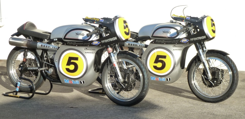 Bruce Anstey's McIntosh Manx Nortons for the 2014 Isle of Man Classic TT